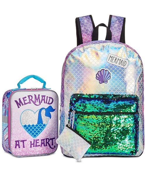 96b0c132b5bf FAB Little   Big Girls Mermaid Backpack with Coin Purse   Accessory  Innovations Mermaid Lunch Bag