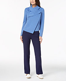 Anne Klein Asymmetrical Jacket & Slim-Fit Pants