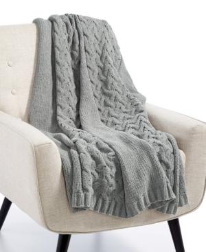 Lacourte Luxury Heathered SweaterKnit 50 x 60 Throw Created for Macys