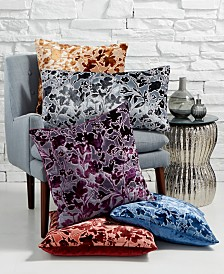 Lacourte Misha Handcrafted Burnout Velvet Jacquard Decorative Pillow Collection, Created for Macy's