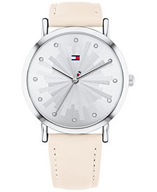 Tommy Hilfiger Women's Blush Leather Strap Watch 36mm