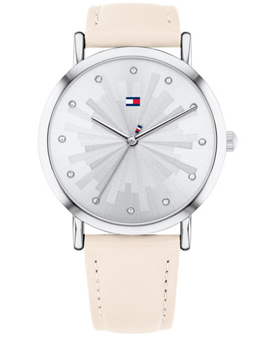 Tommy Hilfiger Women's Blush Leather Strap Watch 36mm Created for Macy's