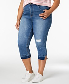 Seven7 Trendy Plus Size Cropped Jeans