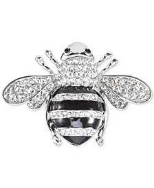 Nina Silver-Tone Pavé Honey Bee Pin