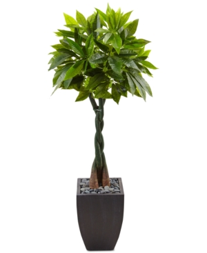 Nearly Natural 5 Money Artificial Tree in Black Square Planter