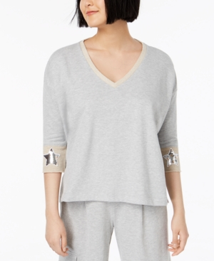 Image of 525 America Petite Sequined Star-Cuff Top, Created for Macy's