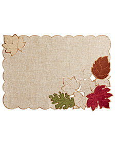 "Elrene Serene Leaves 13"" x 19"" Placemat"