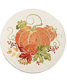 """Homewear Brenton Pumpkin Round 15"""" Placemat"""