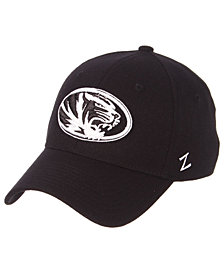 Zephyr Missouri Tigers Black/White Stretch Cap