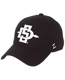 Zephyr San Diego State Aztecs Black/White Stretch Cap