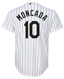 Majestic Yoan Moncada Chicago White Sox Player Replica Cool Base Jersey, Big Boys (8-20)