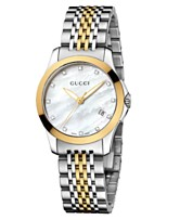 3180c54c70b Gucci Women s Swiss G-Timeless Two Tone Diamond Accent Stainless Steel  Bracelet Watch 27mm YA126513
