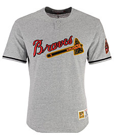 Mitchell & Ness Men's Atlanta Braves Sealed The Victory Henley T-Shirt