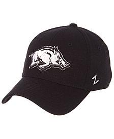 Zephyr Arkansas Razorbacks Black/White Stretch Cap