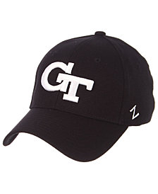 Zephyr Georgia-Tech Black/White Stretch Cap