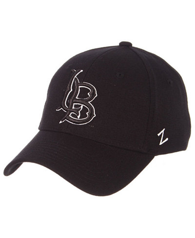 Zephyr Long Beach State 49ers Black White Stretch Cap