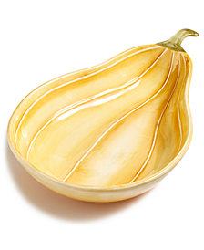 Martha Stewart Collection Farmhouse Gourd Serving Dish