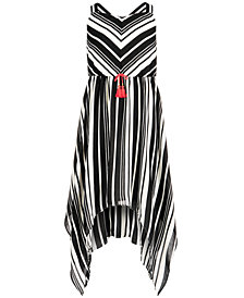 Sequin Hearts Big Girls Striped Maxi Dress