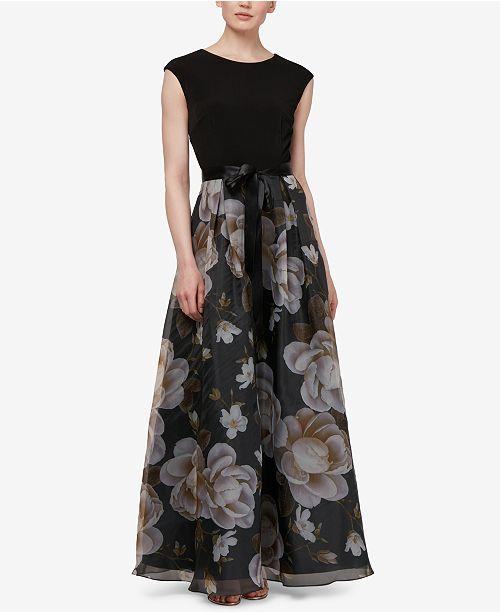 Organza Printed Multi Sleeve Black SL Fashions Cap Gown 8InqpIBTw