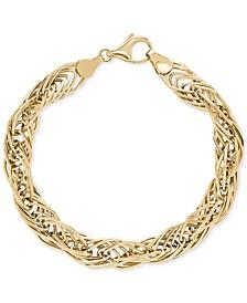 Twist Link Bracelet in 10k Gold