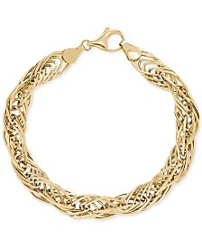 Twist Link Bracelet in 10k Gold