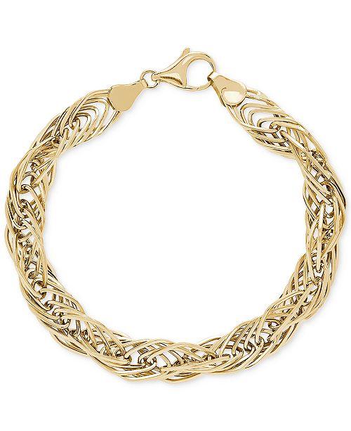 Macy's Twist Link Bracelet in 10k Gold