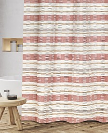 "Popular Bath Baltic Cotton Textured Stripe 72"" x 72"" Shower Curtain"