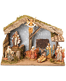 Roman Fontanini 110th Anniversary 9-Pc. Figural Stable Nativity Set