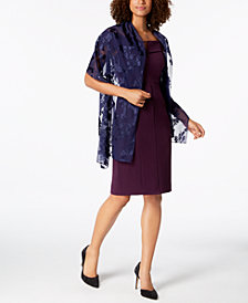I.N.C. Blossom Shadow Evening Wrap, Created for Macy's