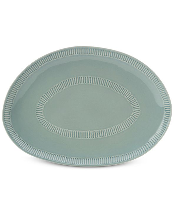 Mikasa Marbella Blue  Oval Platter