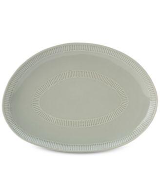 Marbella Gray Oval Platter