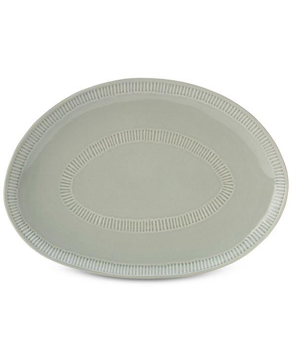 Mikasa Marbella Gray Oval Platter