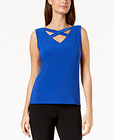 Nine West Cross-Neck Shell