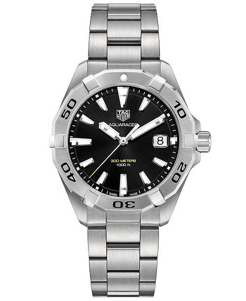 e77340b8f9f5e TAG Heuer Men s Swiss Aquaracer Stainless Steel Bracelet Watch 41mm ...