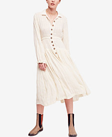 Free People Diamond Head Embroidered Dress