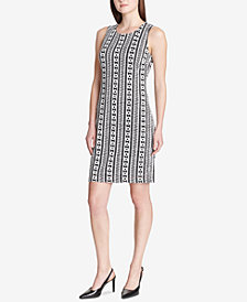Calvin Klein Sleeveless Jacquard Sheath Dress