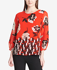 Calvin Klein Printed Blouse