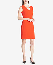 Calvin Klein Hardware-Embellished Sheath Dress