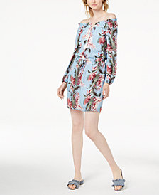 Maison Jules Off-The-Shoulder Floral-Print Dress, Created for Macy's