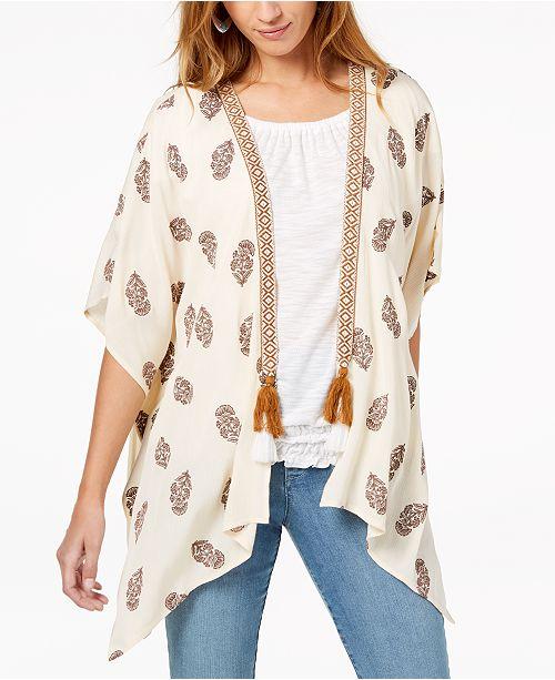 3d10e21528a ... Style   Co Tassel-Trim Kimono