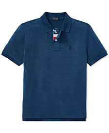 Polo Ralph Lauren Indigo Cotton Mesh Polo Shirt, Big Boys