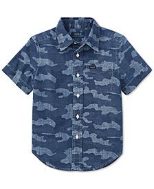 Polo Ralph Lauren Big Boys Camo Cotton Chambray Shirt