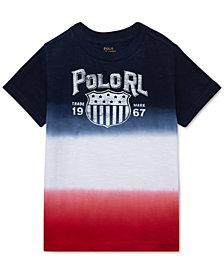 Polo Ralph Lauren Dip-Dyed Cotton Jersey T-Shirt, Little Boys