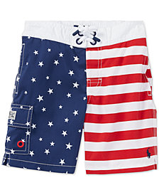 Polo Ralph Lauren Little Boys Flag Swim Trunks