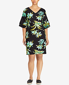 Lauren Ralph Lauren Plus Size Graphic-Print Shift Dress