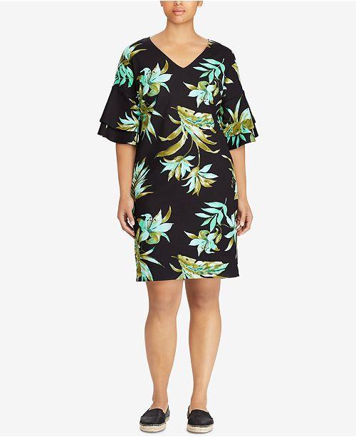6fdc4330 Lauren Ralph Lauren Plus Size Graphic-Print Shift Dress & Reviews ...