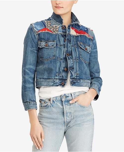 0c2154f44038b Polo Ralph Lauren Embroidered Denim Jacket   Reviews - Jackets ...