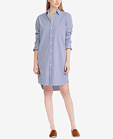 Polo Ralph Lauren Monogram Cotton Shirtdress