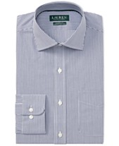 32c64662b74 Lauren Ralph Lauren Men s Classic Fit Striped Dress Shirt