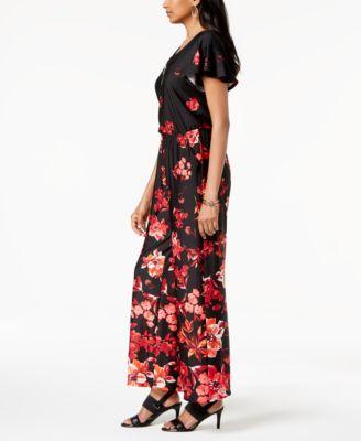 c75fa6c0f2cb Petite Floral-Print Wide-Leg Jumpsuit
